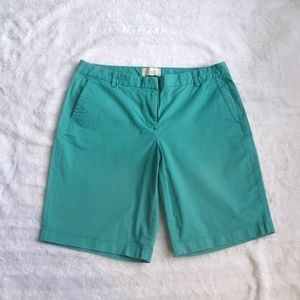 J.Crew teal Bermuda shorts size 8